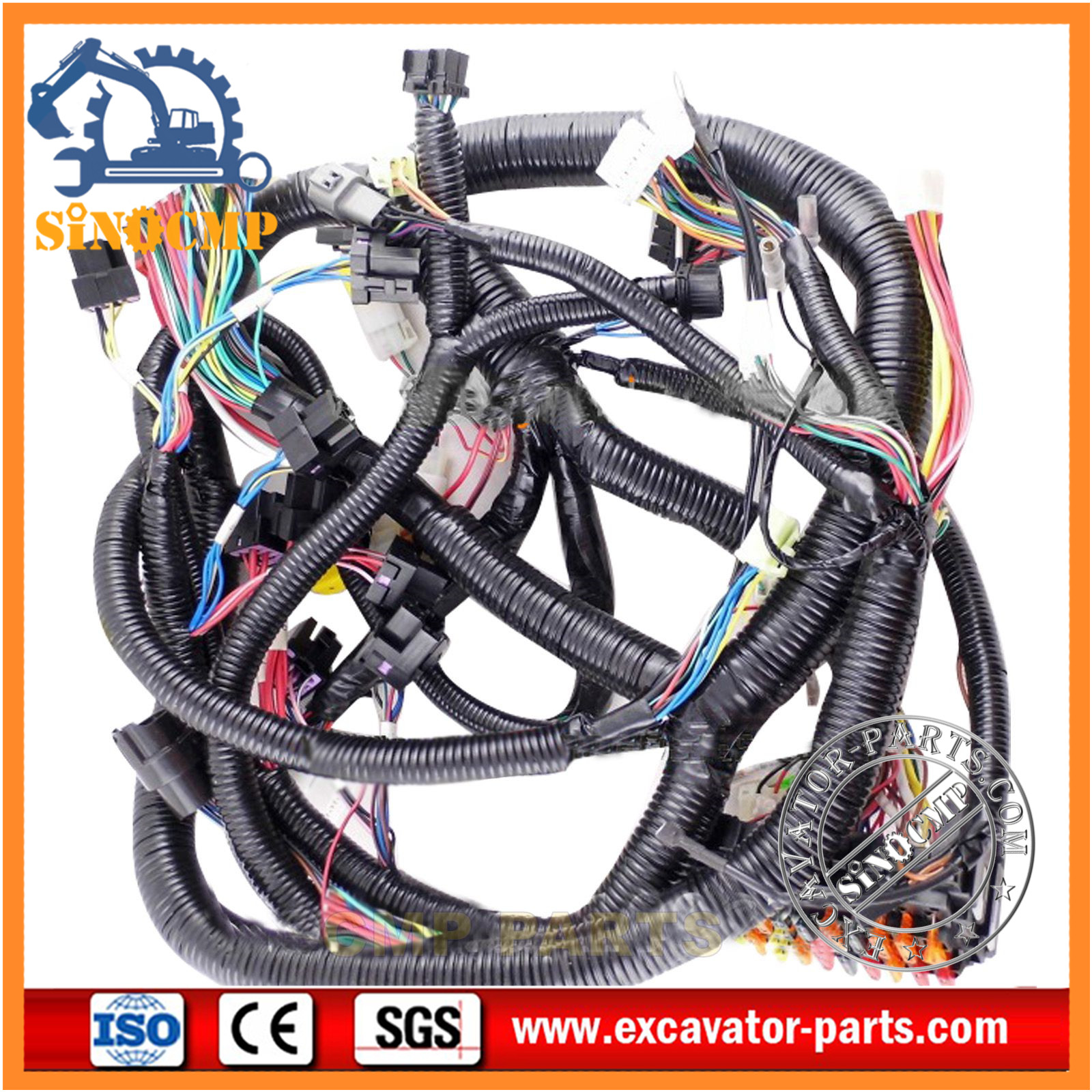 EX120 2 Hitachi Excavator Inner Cabin Wiring Harness 0001044 2 ebay 1 hitachi ex200 3 wiring harness 0001835 0001847 hitachi excavator cucv cabin wiring harness at gsmx.co