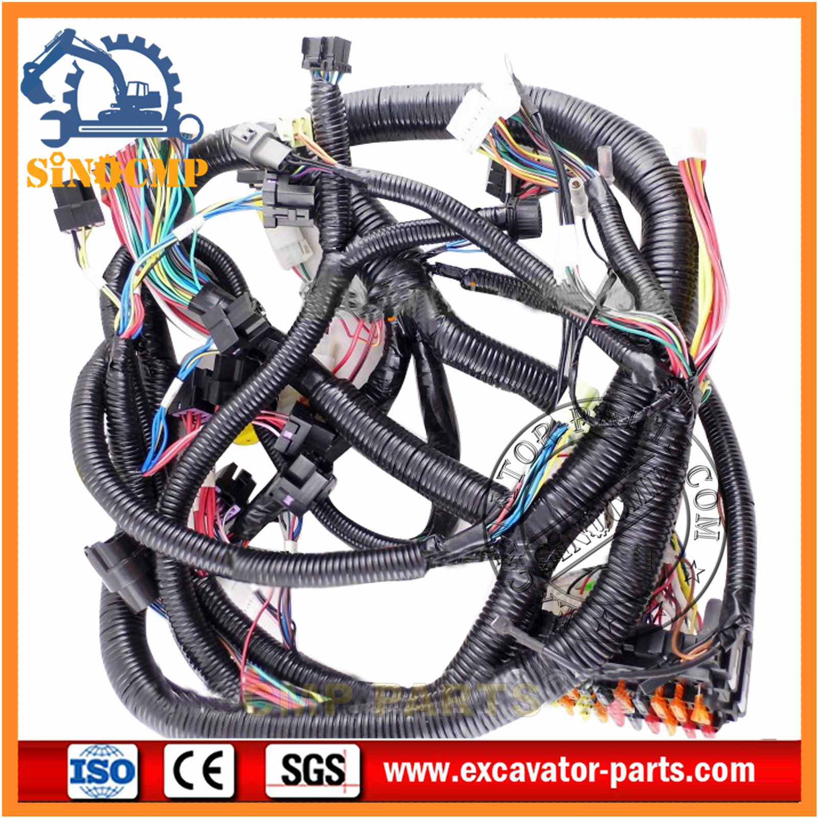 hitachi wire harness for ex100-2/3 ex200-2/3 | hitachi ... wire toner wiring harness #8
