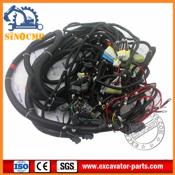 PC220 6 PC200 6A PC200 6 Excavator Wiring Harness 20Y 06 22713 20Y 06 22711 2 7 207 06 61242 digger wiring harness fit komatsu pc350 6 sinocmp Wire Harness Plugs at creativeand.co