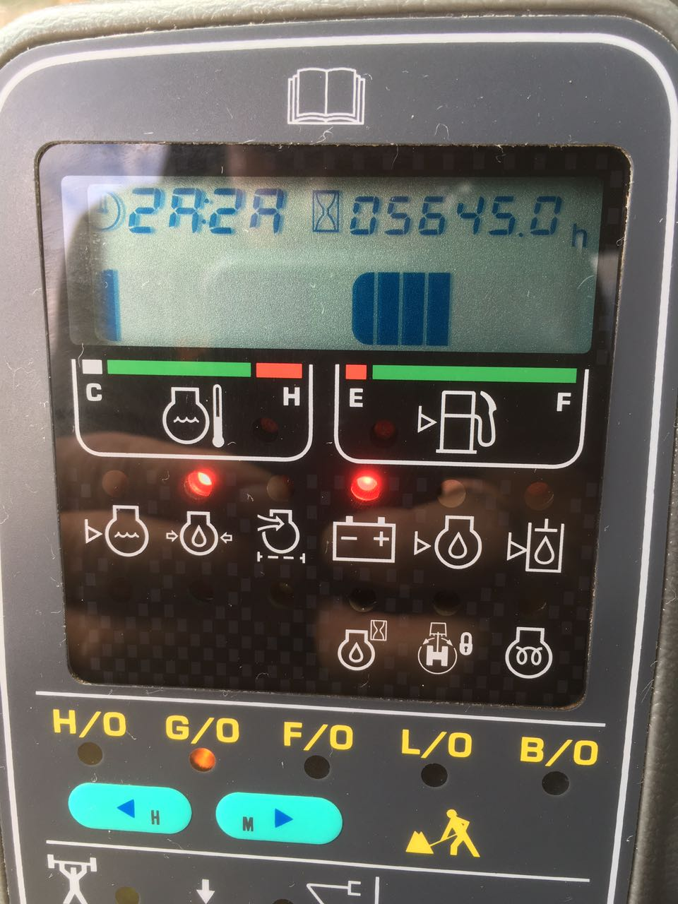 Komatsu PC200-6 Error Codes or Fault codes on the Monitor
