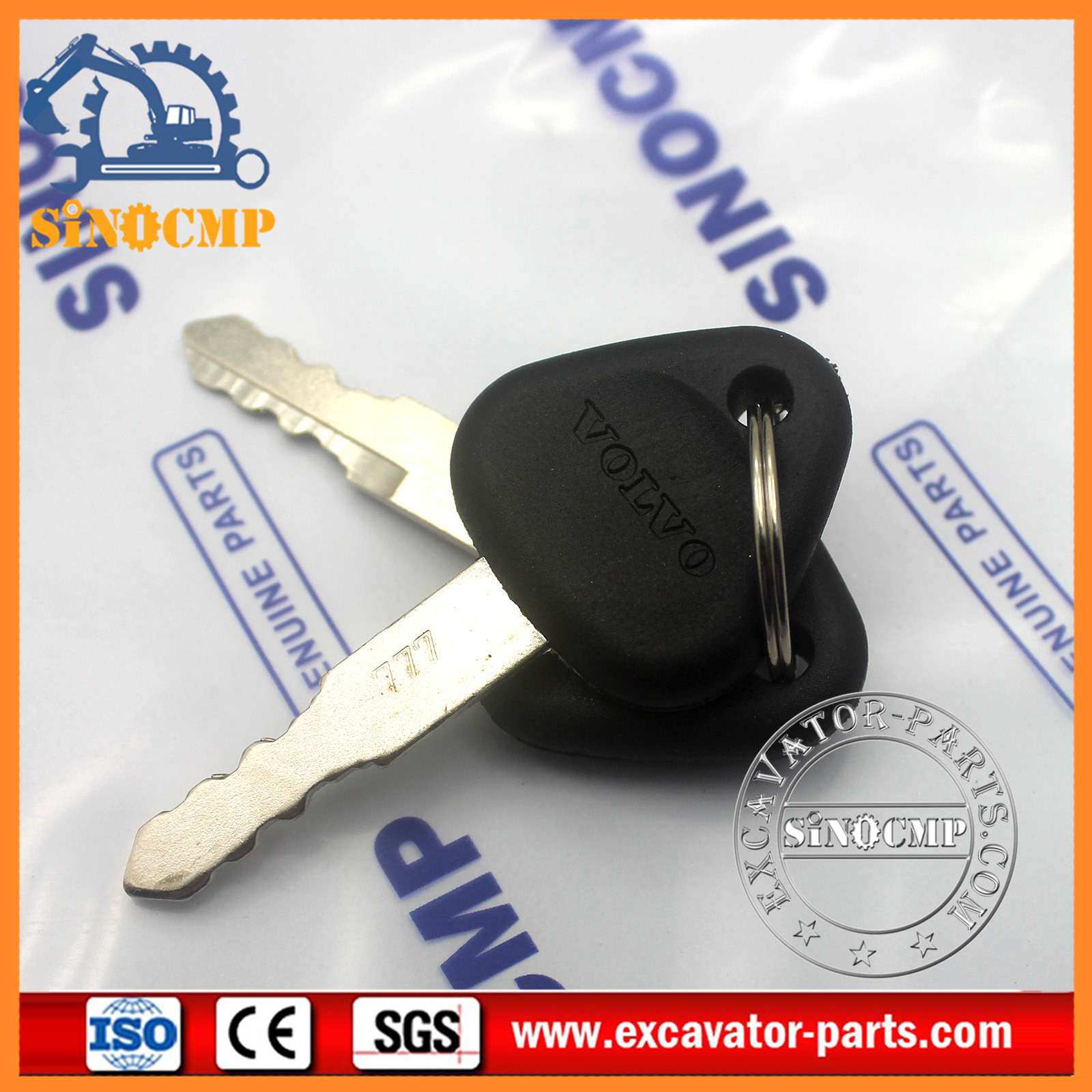 Volvo 777 Key Ignition Key for Volvo Excavator | SINOCMP
